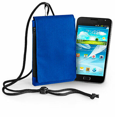 £6.95 • Buy Mobile Phone Fabric Neck Pouch Bag Universal - Small Blue