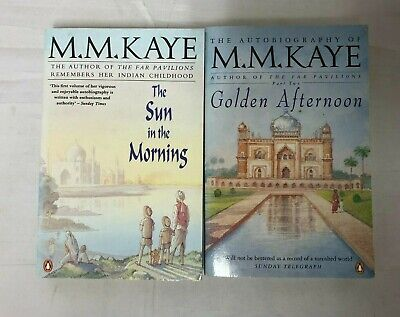 £9.99 • Buy 2x M.M.Kaye Books The Sun In The Morning & Golden Afternoon The Autobiography