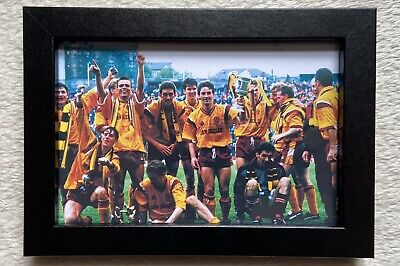 £13.95 • Buy Motherwell Fc 1991 Scottish Cup Winners Picture Framed Birthday Dad Fan Gift New