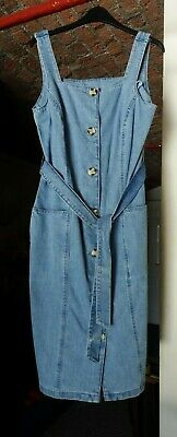 £8.50 • Buy Blue Denim, Button Front,Camisole Type Dress From George