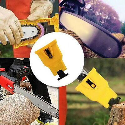 £8.99 • Buy Two Hole Chainsaw Teeth Blade Sharpener Fast Sharpening Stone Grinder Tools