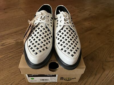 £49.50 • Buy Dr Martens Willis White Smooth Leather Womens Size 5 Studded Pointed Lace Up