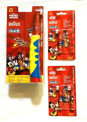 AU53.45 • Buy Oral-B Mickey Mouse Kids Power Toothbrush D10511 With 3 Extra Brush Heads - New