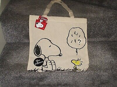 £3.04 • Buy Charlie Brown Peanuts Tote Bag Snoopy And Woodstock - 100% Cotton