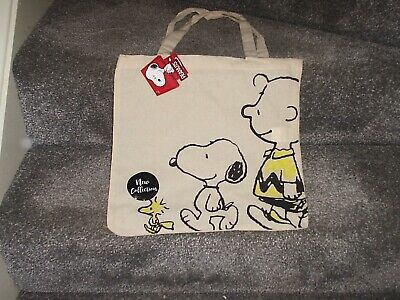 £3.04 • Buy  Peanuts Tote Bag Snoopy Charlie Brown And Woodstock - 100% Cotton