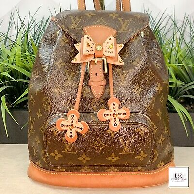 $1210 • Buy Authenticated Louis Vuitton LV BackPack Bag Montsouris MM Browns Monogram