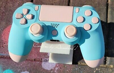 AU187.08 • Buy 💗playstation/ps4 V2 Custom Controller Pastel Blue  & Pastel Pink Soft Touch 💙