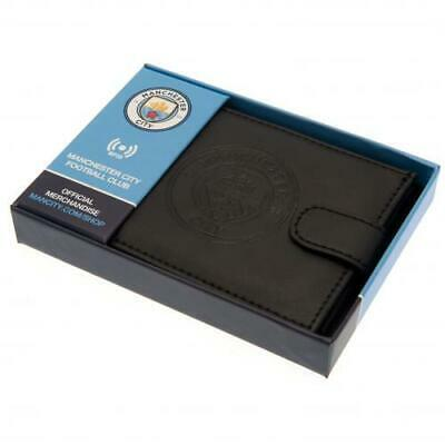 £19.95 • Buy Manchester City Leather Rfid Anti Fraud Wallet (Official Club Merchandise)