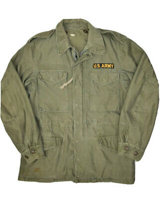 $88.94 • Buy Vintage US Army Field Jacket Shell Mens S M1951 Green Full Zip Military