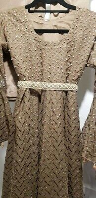 £79.99 • Buy Womens Indian/Asian/Pakistani Party Dress/Suit - Taupe, Size M, 5 Piece. New.