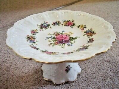 £30 • Buy Queens Rosina China England Porcelain Dish On Stand,perfect Condition