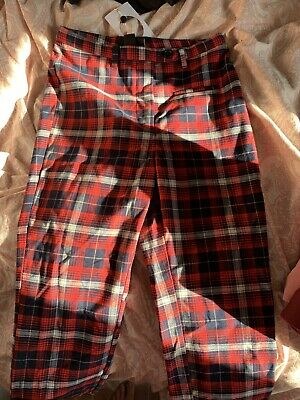 £10 • Buy Monki Checkered Trousers Size 10