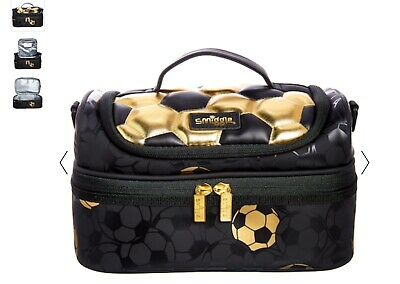 $ CDN37.75 • Buy Smiggle Football Gold Double Decker Lunch Box Bag With Strap