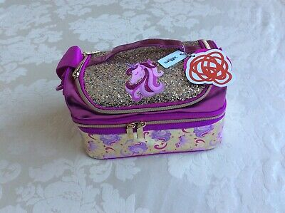 $ CDN37.75 • Buy Smiggle Unicorn Gold Double Decker Lunch Box Bag With Strap