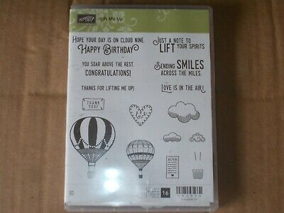 £27.68 • Buy Stampin' Up LIFT ME UP Cling Stamp Set & UP & AWAY Thinlits Dies