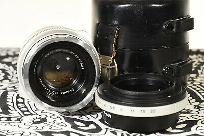 $345 • Buy Carl Zeiss 50mm F/2 Planar Contarex Mount Lens With M43 Adapter And Case
