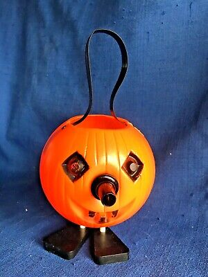 $ CDN60.89 • Buy Vintage 60s Halloween Jack O Lantern Noisemaker Candy Container Holder Blow Mold