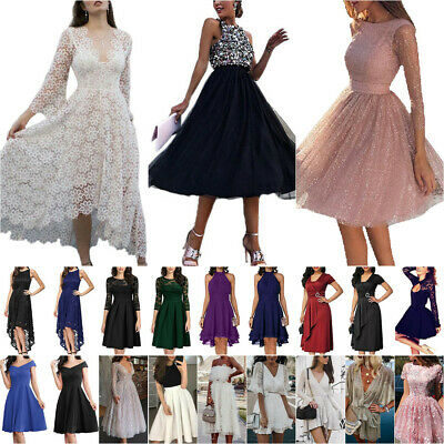 AU37.89 • Buy Womens Evening Party Formal Prom Dress Wedding Bridesmaid Cocktail Gown Dresses