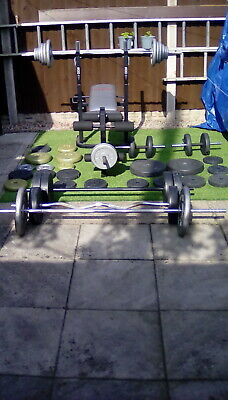 £280 • Buy Gym Equipment Weights, Bench And Bars