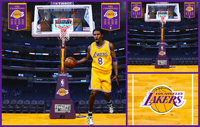 $49.99 • Buy 1/6 Lakers Hoop Backdrop 15 X15  - For 1/6 Kobe Bryant Lebron James Shaquille