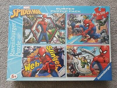 £11.99 • Buy New! Marvel Spiderman Bumper Puzzle Pack 4 X 100 Ravensburger Quality Ages 5+