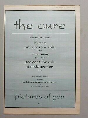 £7.99 • Buy The Cure Pictures Of You 1990 Original Trade Advert / Poster
