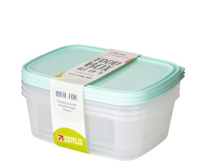 £6 • Buy Wham Food Storage Box Container 2L - Set Of 3