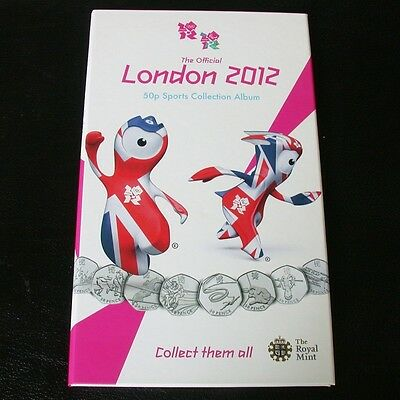 £43.95 • Buy The Official Olympic London 2012 50p Coins Sports Collection Album - NO COINS.