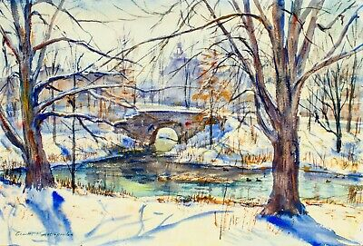 $469 • Buy Charles Demetropoulos (MA,1912-1976) Watercolor Painting