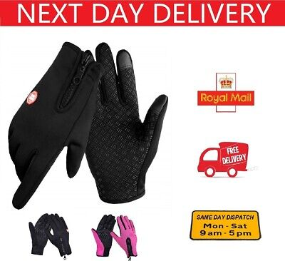£4.99 • Buy Winter Warm Gloves Touch Screen Waterproof Anti-slip For Driving Sports Cycling