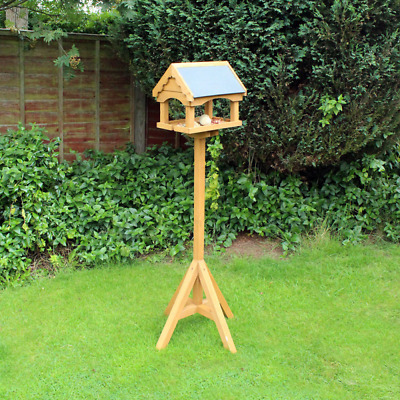 £36.99 • Buy Wooden Bird Feeding Station Table Free Standing Portable Traditional Bird House