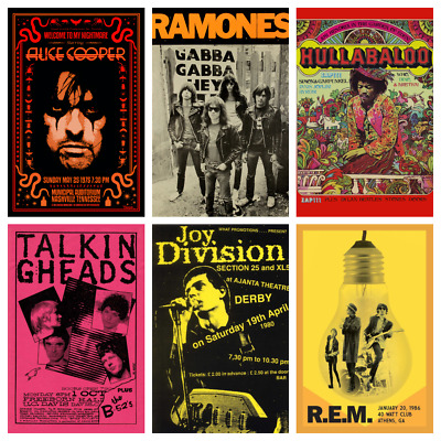 £4.49 • Buy BAND POSTERS Rare Alternative Rock Blues Concert Music Posters Club Bar Decor