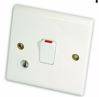 £5.20 • Buy DETA S1392 20A Double Pole Switch With Flex Outlet