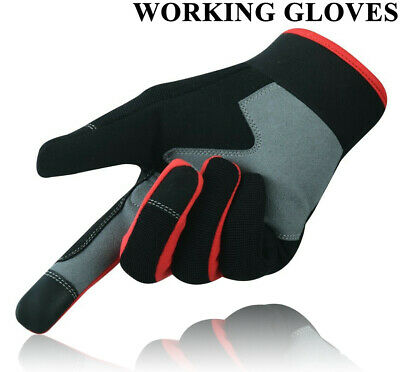 £5.99 • Buy Heavy Duty Work Gloves Safety Mechanic Gardening Builders Cut Hand Protection