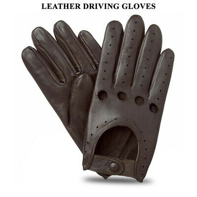 £9.97 • Buy Men's Driving Gloves Unlined Top Quality Soft Genuine Real Leather Lambskin