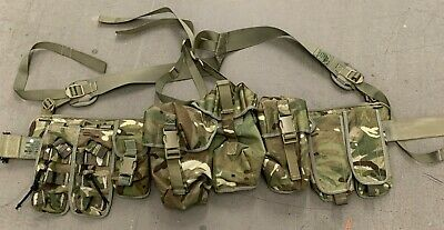 £59.99 • Buy British Army Issue MTP Webbing Hip Belt With Roll Pin & 8 Pouches - Ref 5B8 198