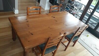 AU195 • Buy 6 Seater Pine Dining Table And Chairs