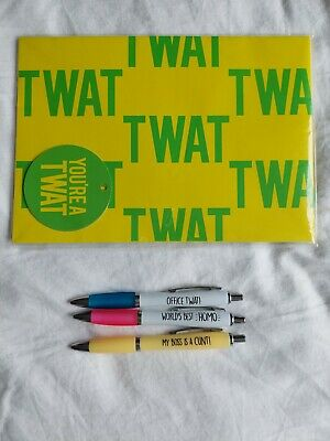 £2.57 • Buy NOVELTY PENS And Gift Wrap Sheets-Funny-Rude Humour