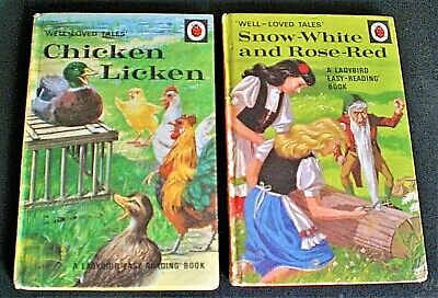 £11.95 • Buy CHICKEN LICKEN & SNOW WHITE AND ROSE RED Ladybird Well-Loved Tales 606D