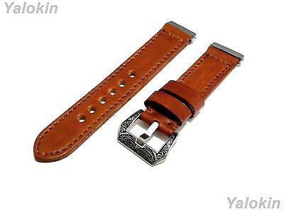 $ CDN60.89 • Buy Light Brown Brushed Leather Band For Fitbit Versa 2 & Versa Lite Special Edition
