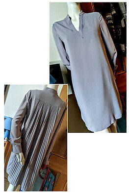 AU22 • Buy Ladies Dress- Ermanno Clothing Sz 1 Grey Polyamide (fabric Made In Italy) ExCond