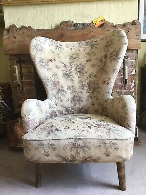 £850 • Buy Ernest Race DA Wingback Armchair Original Upholstery With Optional Loose Cover
