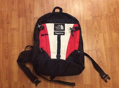 $ CDN95.95 • Buy Pre-Owned Supreme X The North Face Backpack White Red Black FW18