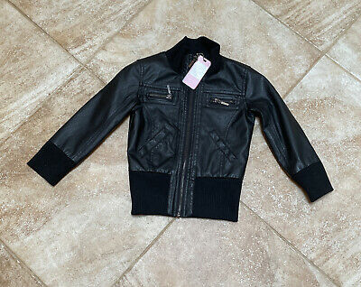 £7.07 • Buy Yoki Boys' / Toddler Faux Leather  Jacket With Zipper ~ Size 3T ~ NEW WITH TAGS