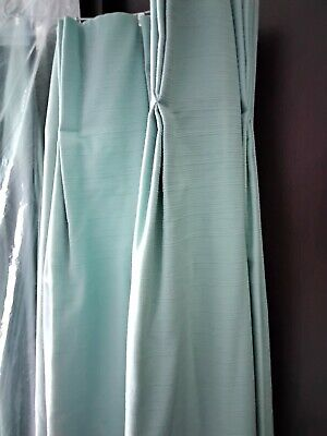 £60 • Buy Fully Lined Pinch Pleat Duck Egg Blue Curtains