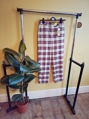 £3 • Buy *brand New With Tags* Marks And Spencer Uk 6 Check Trouser Smart Checkered M&s