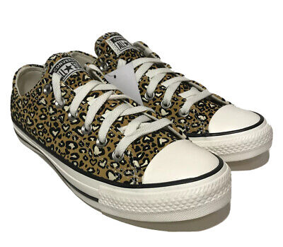 £38.94 • Buy Converse All Star Chock Taylor Low Top Womens Size 7.5 Leopard Heart