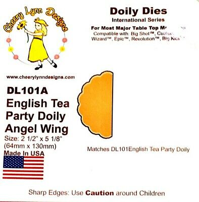 £3 • Buy Cheery Lynn Designs Die – English Tea Party Doily Angel Wing DL101A New