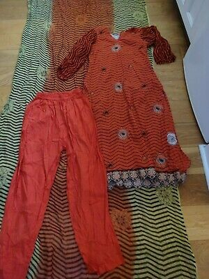 £3.50 • Buy 3 Pieces Embroidered Tunic & Cotton Trousers + Scarf Festival Boho Lagenlook