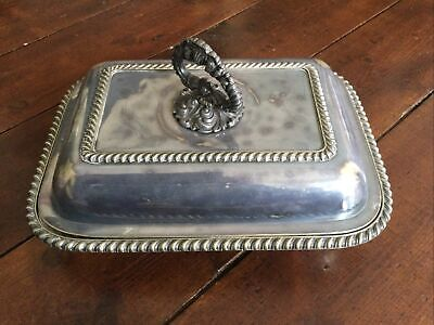 £19 • Buy SILVER PLATE Food VEGETABLE ENTREE TUREEN SERVING DISH REMOVEABLE FINIAL
